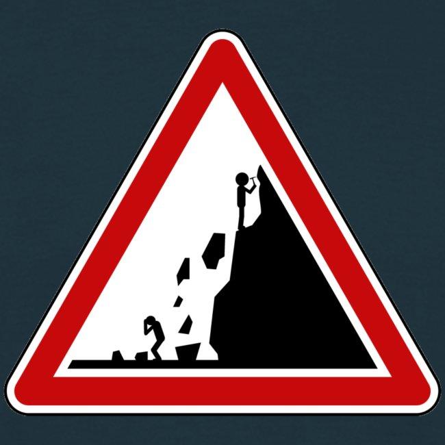 Rock fall warning