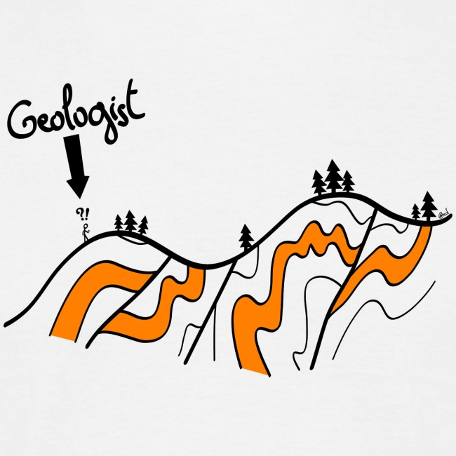 Funny geologic cross section // Geol collection