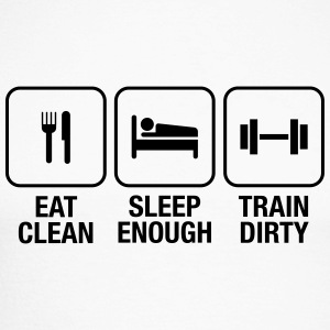 Eat Clean, Sleep Enough, Train Dirty Shirts met lange mouwen - Mannen baseballshirt lange mouw