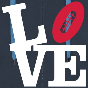 Love American Football Hoodies & Sweatshirts - Men's Premium Hooded Jacket