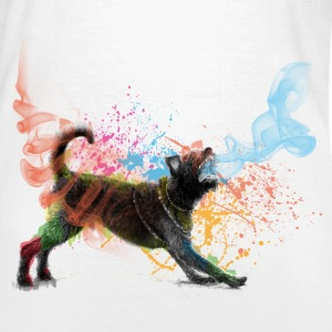 colored dog white (f) - Frauen T-Shirt
