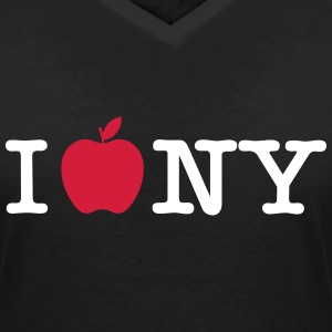 I love big apple - T-shirt col V Femme