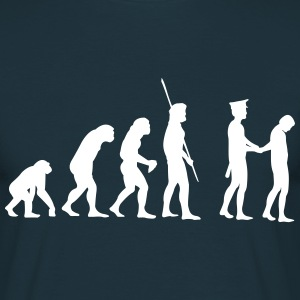 Evolutie politie arresteert  T-shirts - Mannen T-shirt