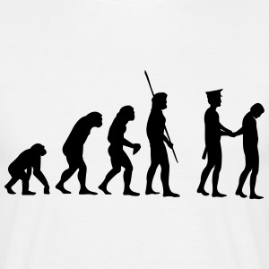 Evolution polisen arrestera  T-shirts - T-shirt herr