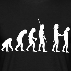 Evolution police with helmets arrest  T-Shirts - Men's T-Shirt