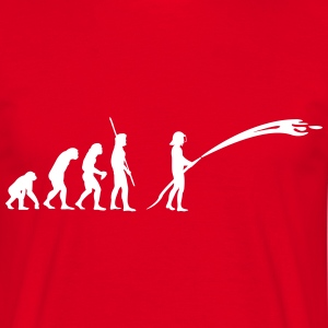 Evolution fireman  T-Shirts - Men's T-Shirt