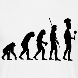 Evolution kok T-shirts - Herre-T-shirt
