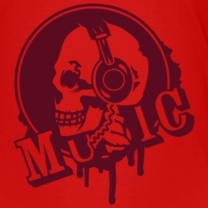 A skull with headphone in profile Shirts - Kids' Premium T-Shirt