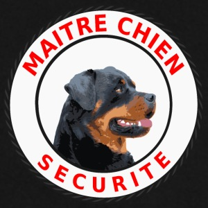 Ecusson rond Maitre-Chien Sécurité Rottweiler Sweat-shirts - Sweat-shirt Homme