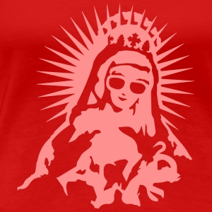 Virgin Mary with a pair of sunglasses T-Shirts - Women's Premium T-Shirt