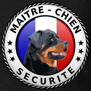 Ecusson rond Maitre-Chien rottweiler Tee shirts - T-shirt Homme