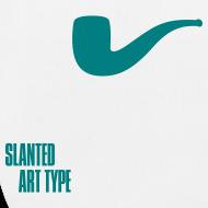 Motiv ~ Slanted – Art Type / White Bio / Totebag