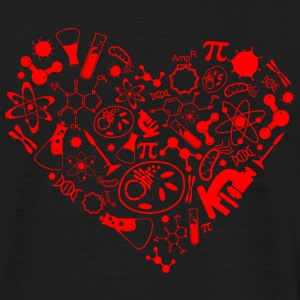 Science heart T-Shirts - Männer T-Shirt