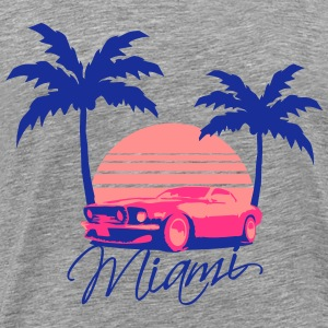 Mus Miami Beach Palms Logo Design T-shirts - Mannen Premium T-shirt