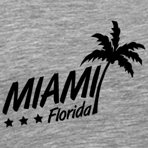 Miami Florida Palm Logo T-Shirts - Men's Premium T-Shirt