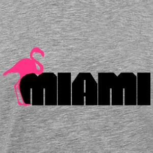 Miami Flamingo T-Shirts - Men's Premium T-Shirt