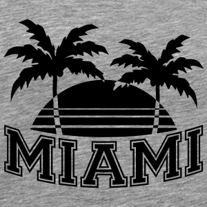 Miami Florida Palms T-shirts - Herre premium T-shirt