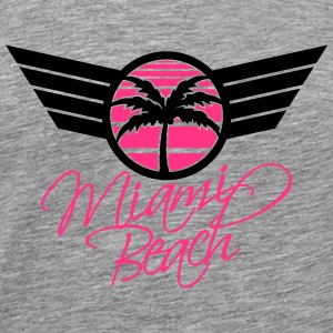 Miami Beach Palm Emblem T-Shirts - Men's Premium T-Shirt