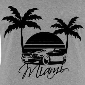 Mus Miami Beach Palms Logo Design T-shirts - Vrouwen Premium T-shirt