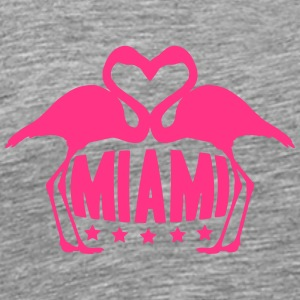Love Miami Flamingo Stars Logo T-Shirts - Men's Premium T-Shirt