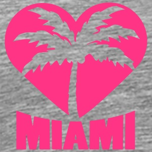 I Love Miami Palm Heart Logo T-Shirts - Men's Premium T-Shirt