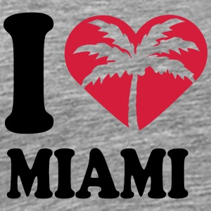 I Love Miami Beach T-Shirts - Men's Premium T-Shirt