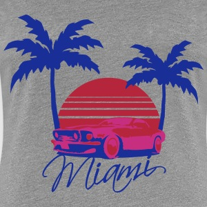 Mus Miami Beach Palms Logo Design T-Shirts - Frauen Premium T-Shirt
