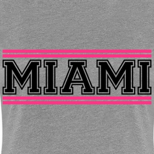 Miami Stripes Logo T-skjorter - Premium T-skjorte for kvinner