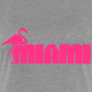 Miami Flamingo T-Shirts - Frauen Premium T-Shirt