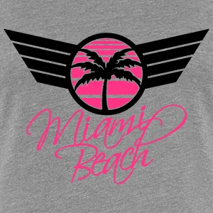 Miami Beach Palm Emblem T-Shirts - Frauen Premium T-Shirt