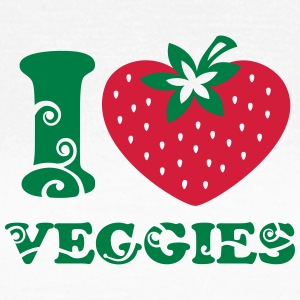 I heart Veggies, love, like strawberry, vegan, eco T-Shirts - Women's T-Shirt