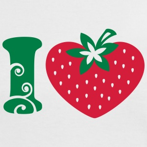 I heart strawberry, love, like, vegan organic, eco - Women's Ringer T-Shirt