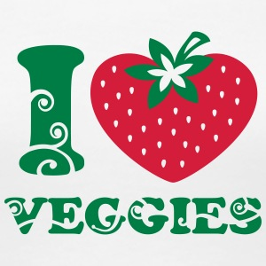 I heart Veggies, love, like strawberry, vegan, eco T-Shirts - Women's Premium T-Shirt