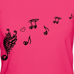 Musik, Musiknoten, music, notes T-Shirts - Women's Organic T-shirt