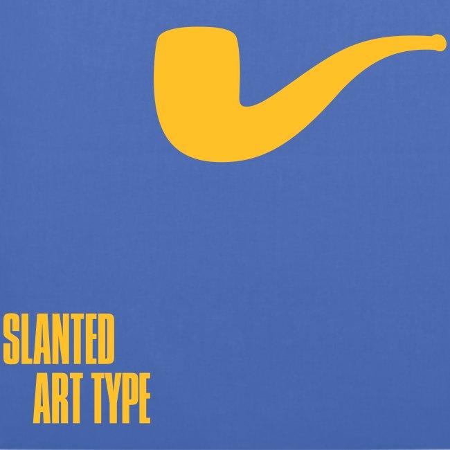 Slanted – Art Type / Blue Yellow / Totebag