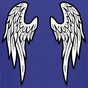 Angel Wings Feather T-shirts - Herre premium T-shirt