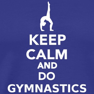 Keep calm and do gymnastics T-Shirts - Männer Premium T-Shirt