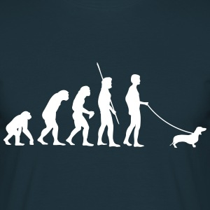 Gravhund Evolution  T-shirts - Herre-T-shirt