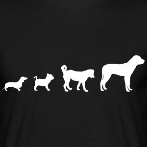 Hund Evolution  T-shirts - Herre-T-shirt