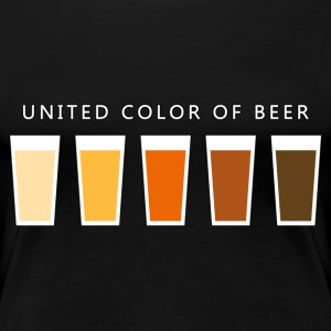 United Color OF BEER (dd) T-shirts - Dame premium T-shirt
