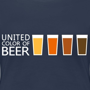 United Color of BEER v3 (dd) T-shirts - Dame premium T-shirt