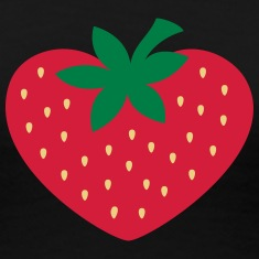 Strawberry heart, vegan, organic, vegetarian, eco T-Shirts