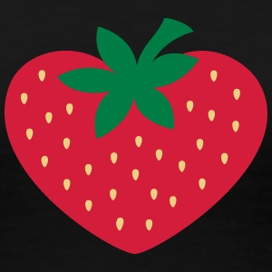Strawberry heart, vegan, organic, vegetarian, eco T-Shirts - Women's Premium T-Shirt