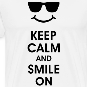 Keep Calm and Smile on  Gute Laune Smiley Smilie - Männer Premium T-Shirt