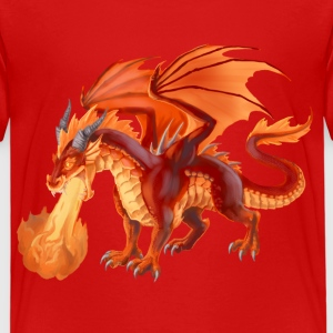 fire dragon T-Shirts - Kinder Premium T-Shirt