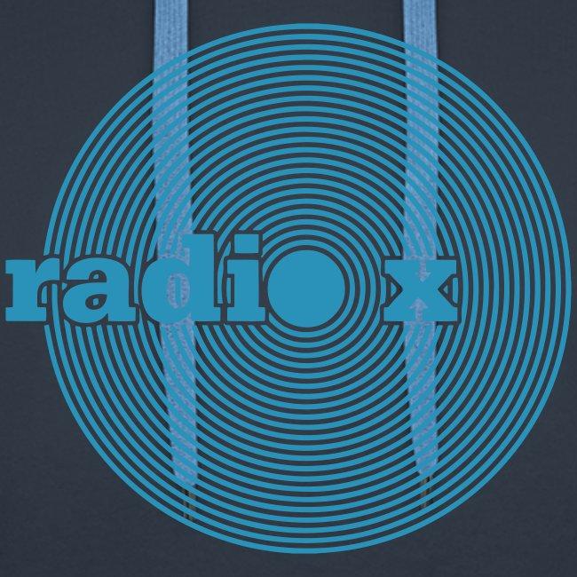 DISC hellblau - samtig - Kapuzenpulli