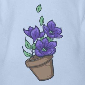 Bowl of petunias T-Shirts - Baby Bio-Kurzarm-Body