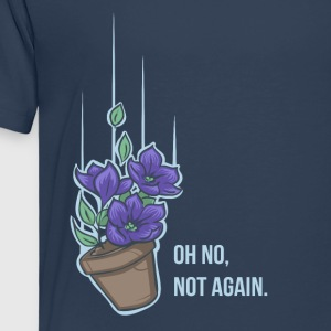Thoughts of a falling bowl of petunias T-Shirts - Kinder Premium T-Shirt