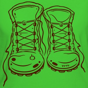 Wandern, Wanderschuhe, Hiking, walking shoes T-Shirts - Frauen Bio-T-Shirt