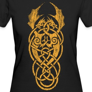 yellow celtic dragons - Women's Organic T-shirt